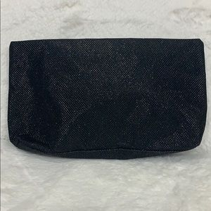 Lancôme black sparkly makeup bag